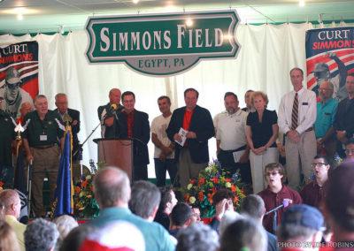 Simmons Field Dedication